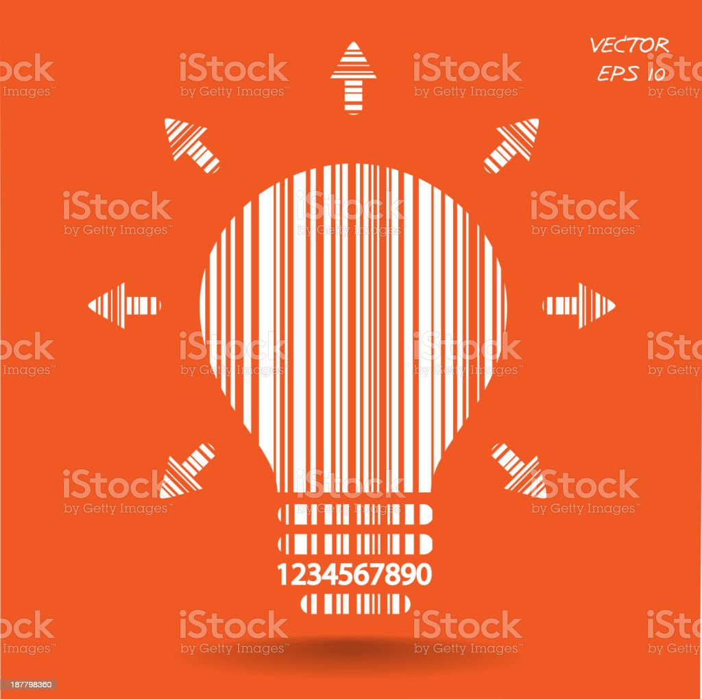 Light bulb sign concept and business ideas. vector art illustration