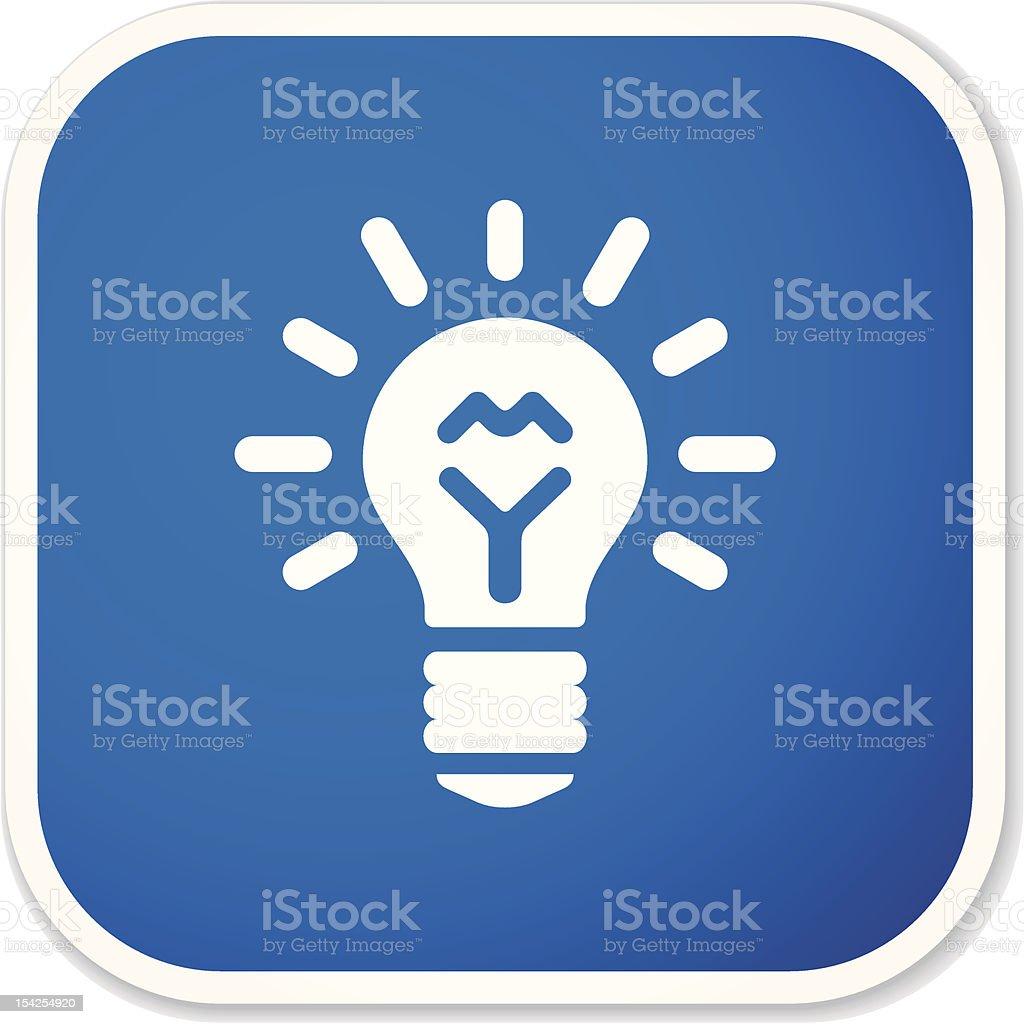 light bulb sq sticker royalty-free stock vector art