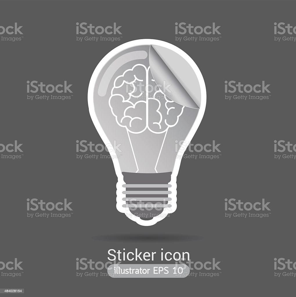 light bulb sticker.icon business concept. vector art illustration