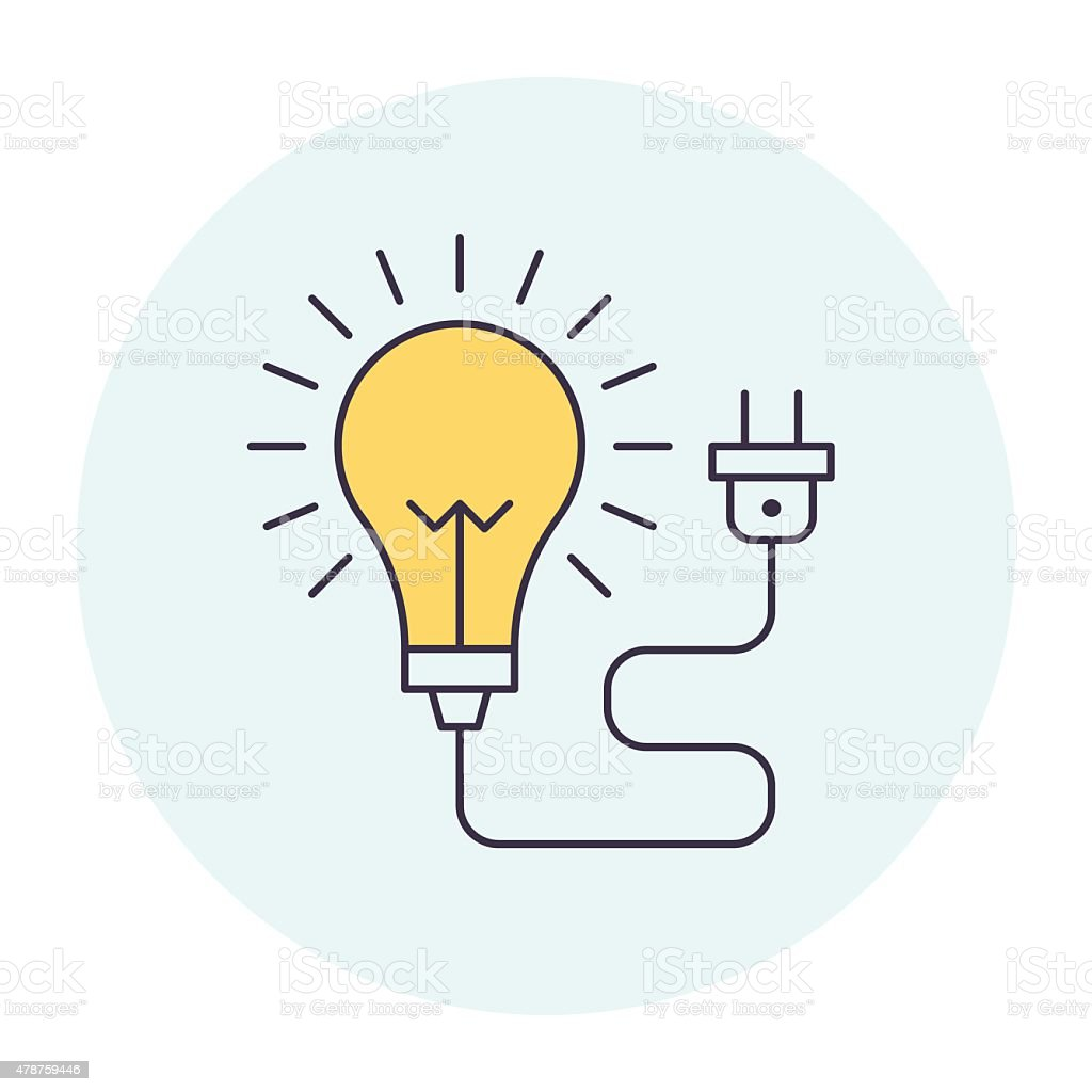 Light Bulb Symbol vector art illustration