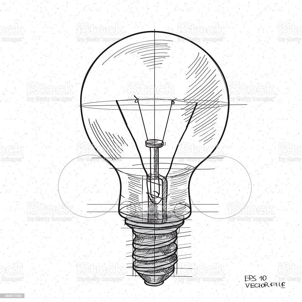 Light bulb vector icon vector art illustration