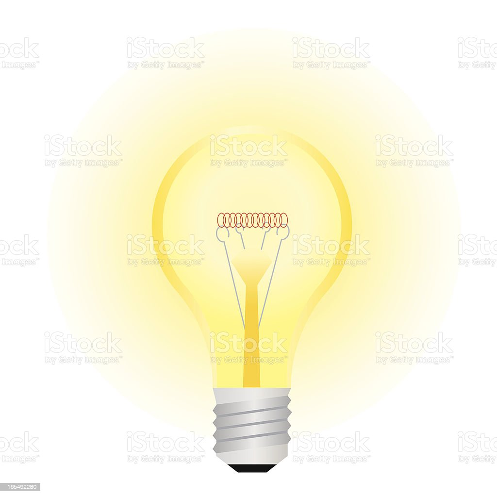 Light bulb . royalty-free stock vector art