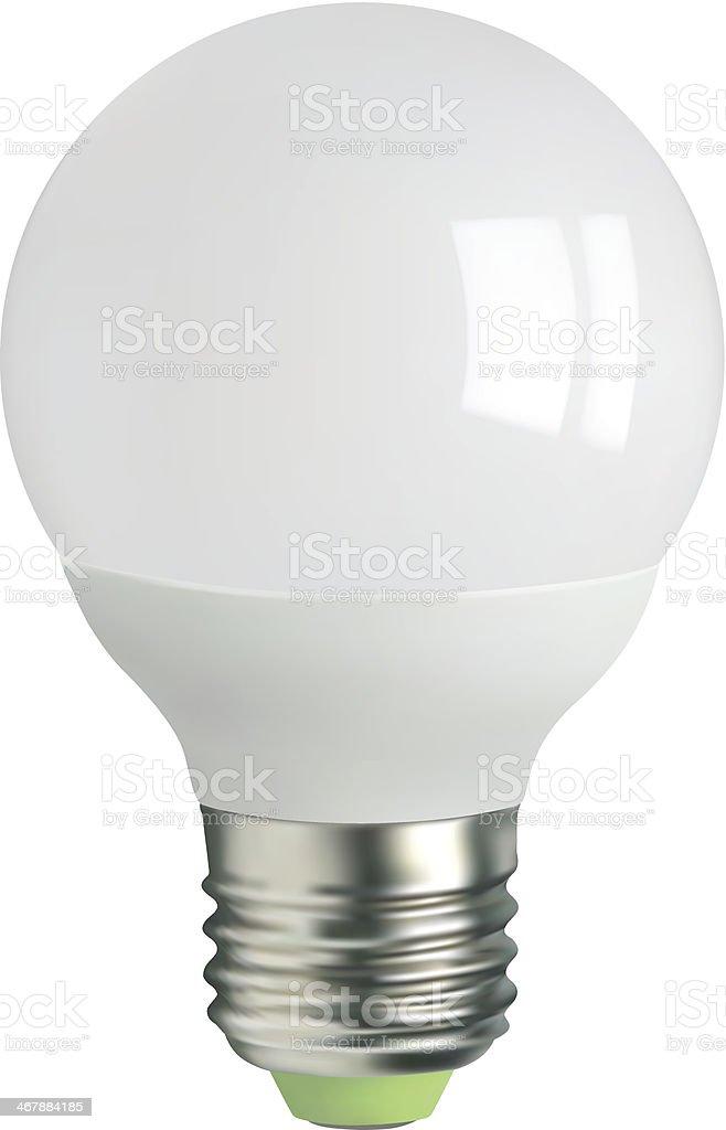 LED light bulb royalty-free stock vector art