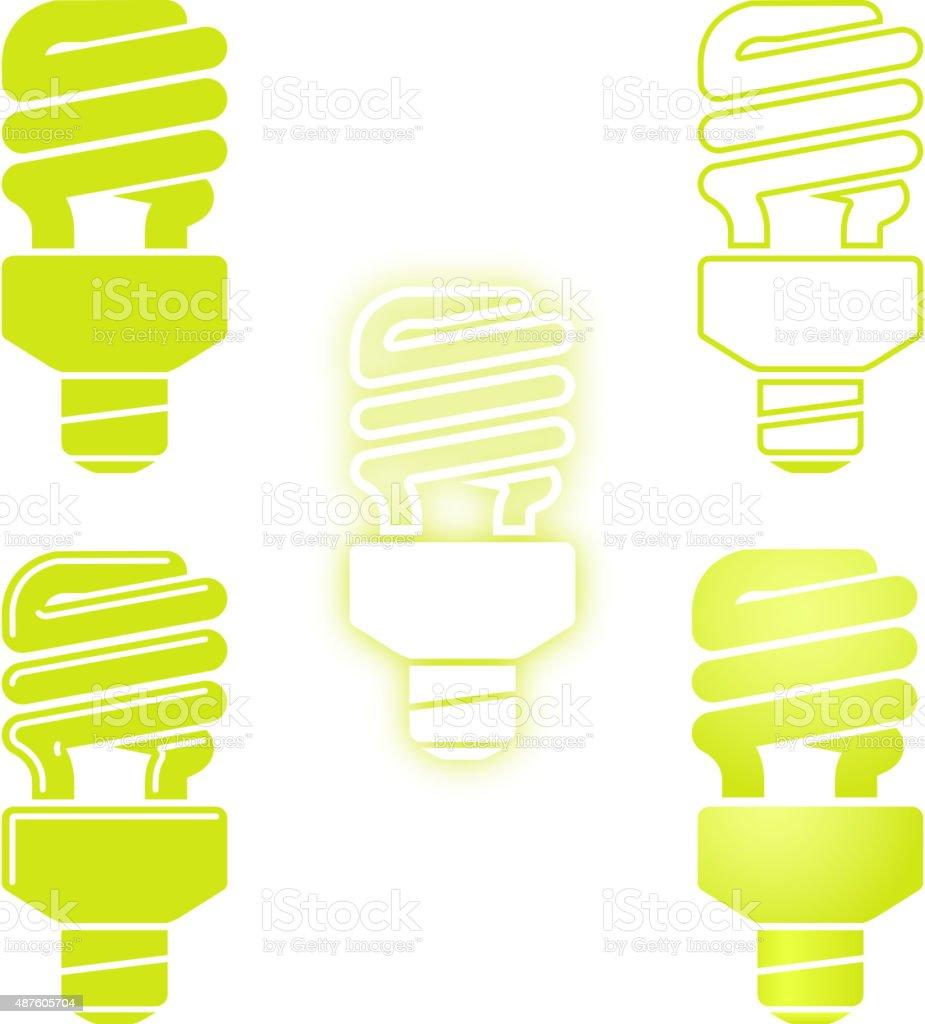ECO Light Bulbs Symbol vector art illustration