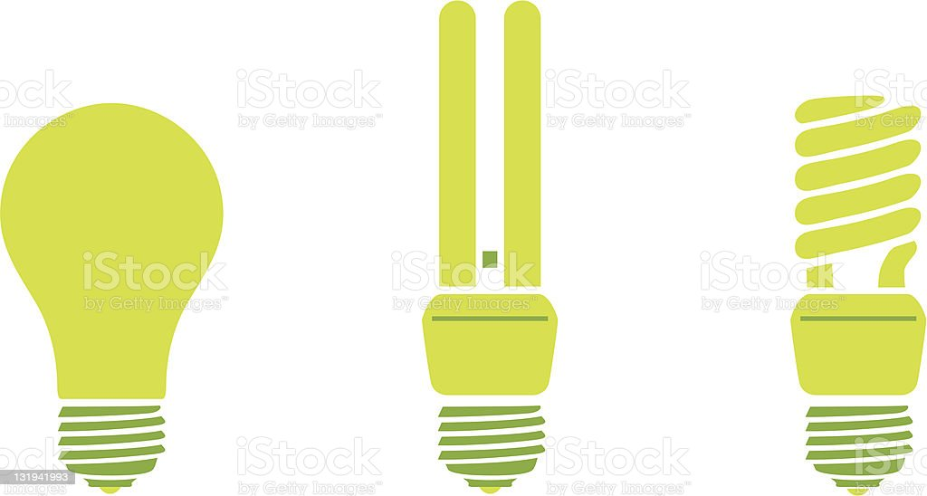 Light Bulbs vector art illustration