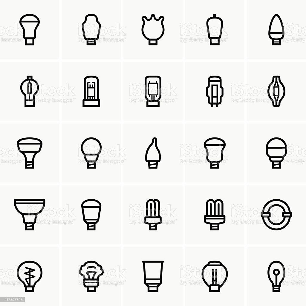 Light bulbs vector art illustration