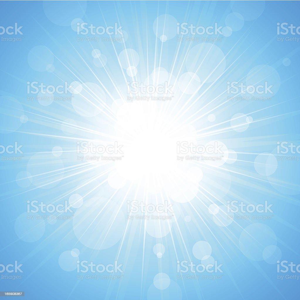 Light Burst Background vector art illustration