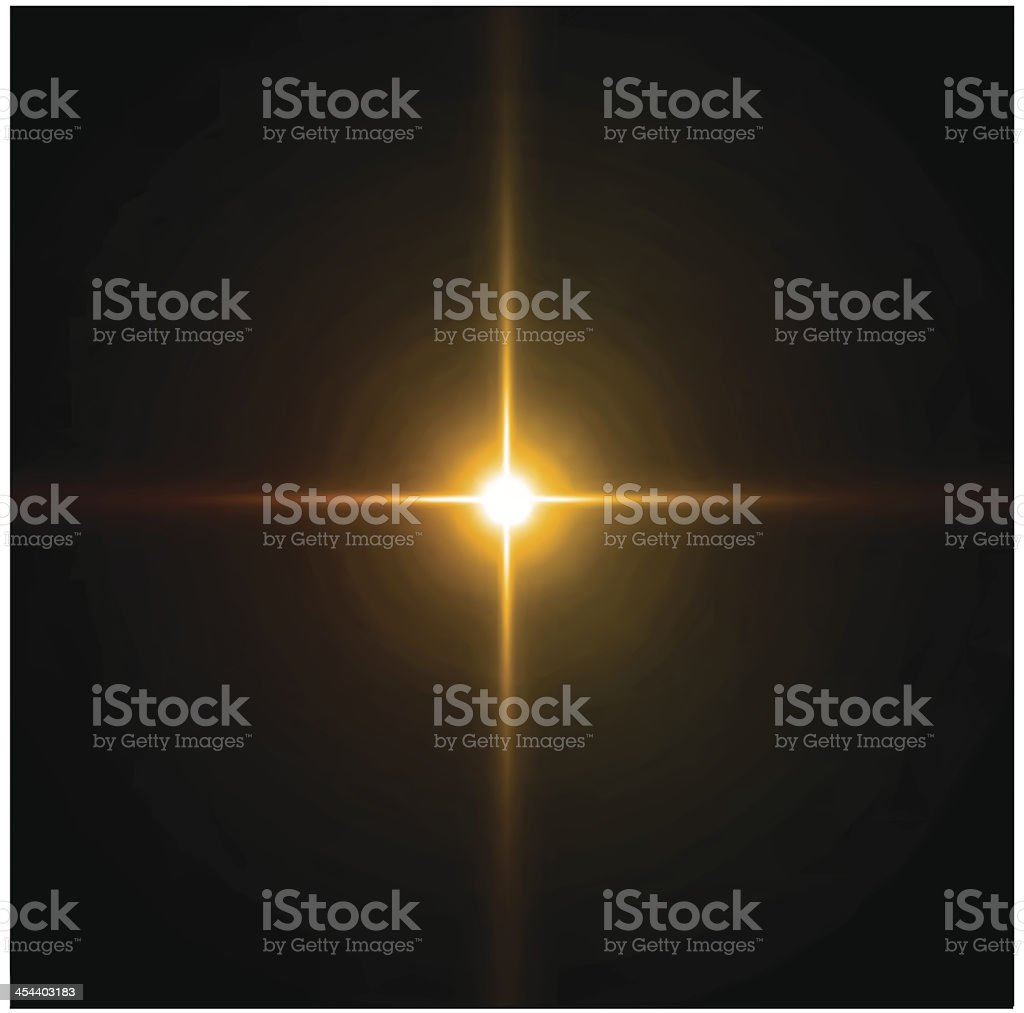 Light burst, fireworks, lens flare. Vector royalty-free stock vector art
