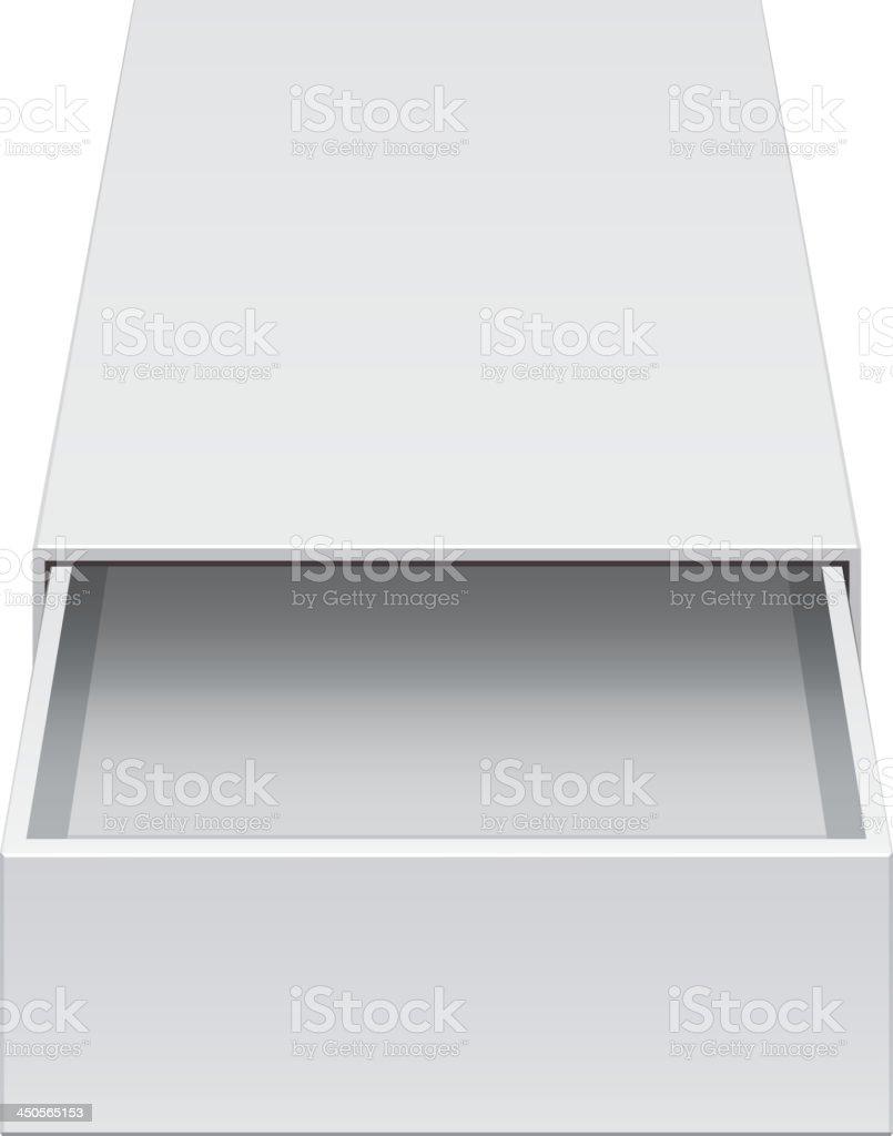 Light Cardboard Sliding Box royalty-free stock vector art