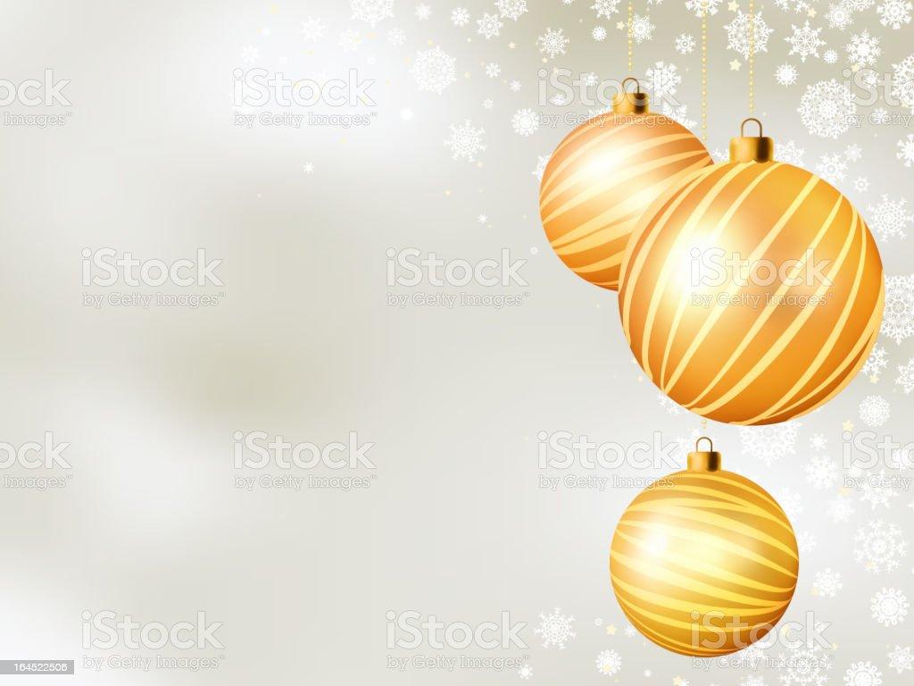 Light Christmas backdrop with five balls. EPS 8 royalty-free stock vector art