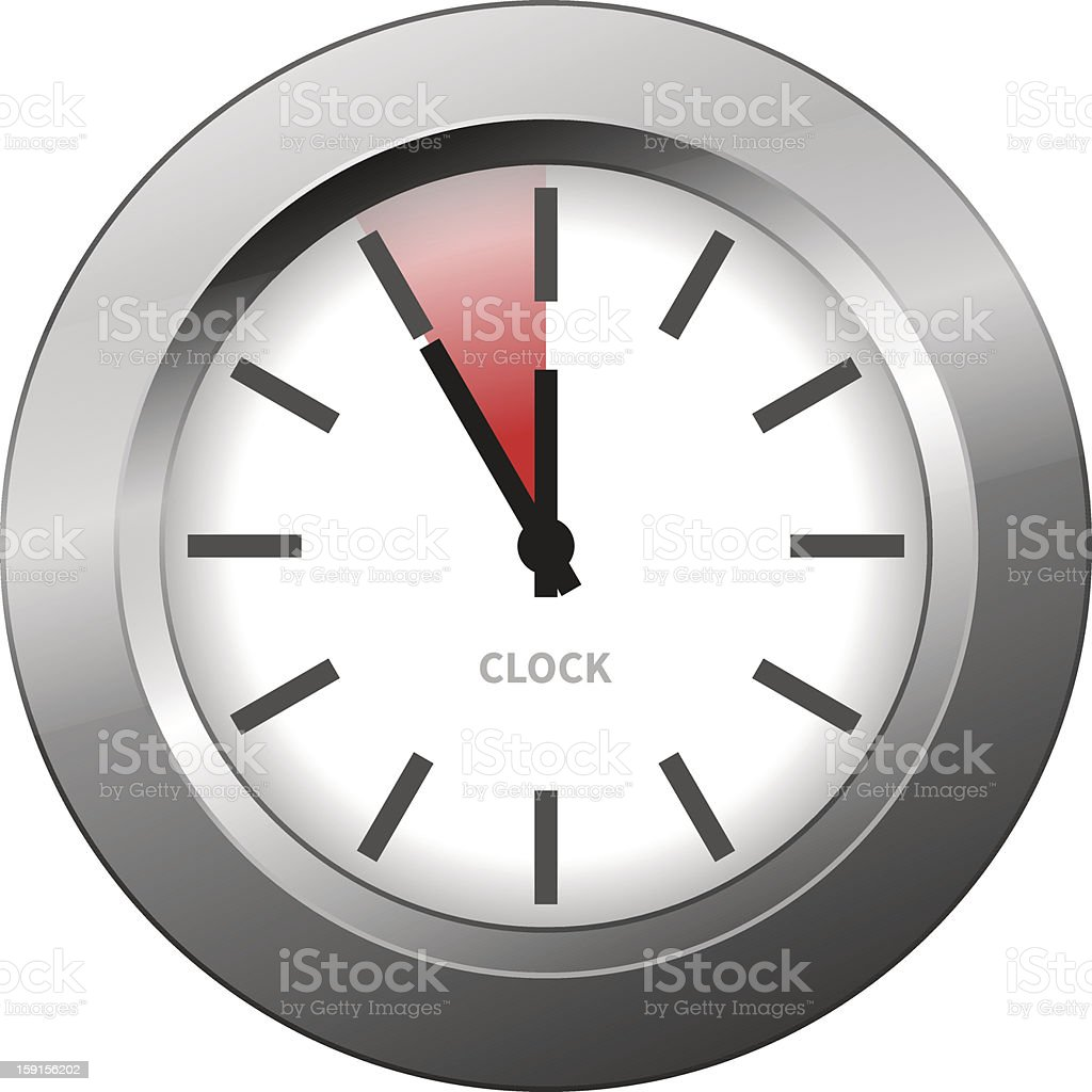Light Clock vector art illustration