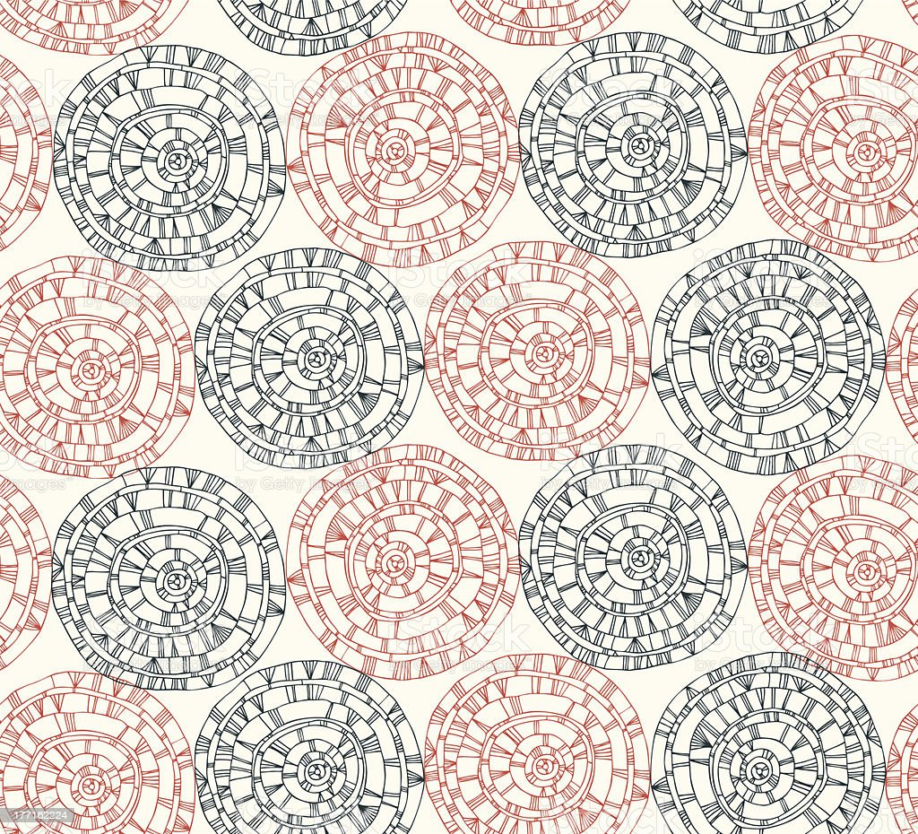 Light cute pattern with different hand drawn circles royalty-free stock vector art