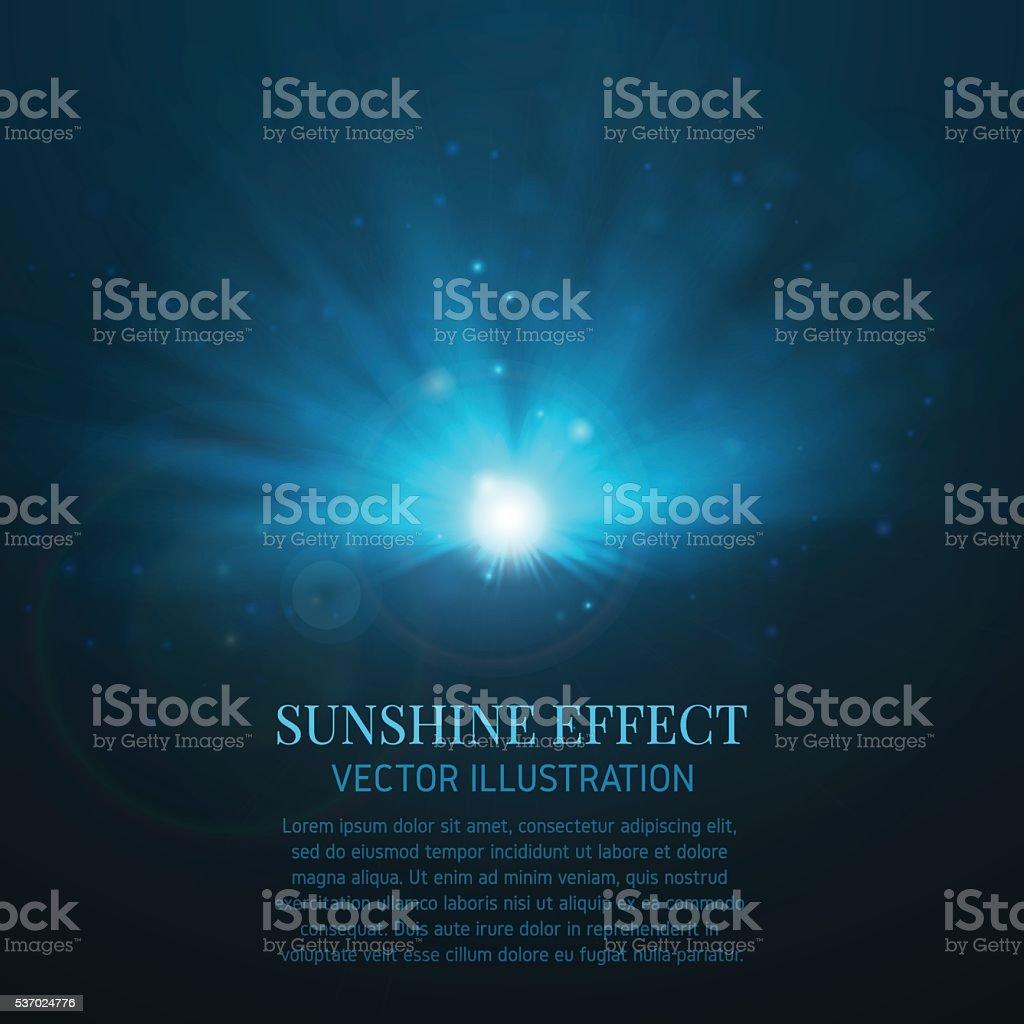 Light effect, flare, lighting. vector art illustration