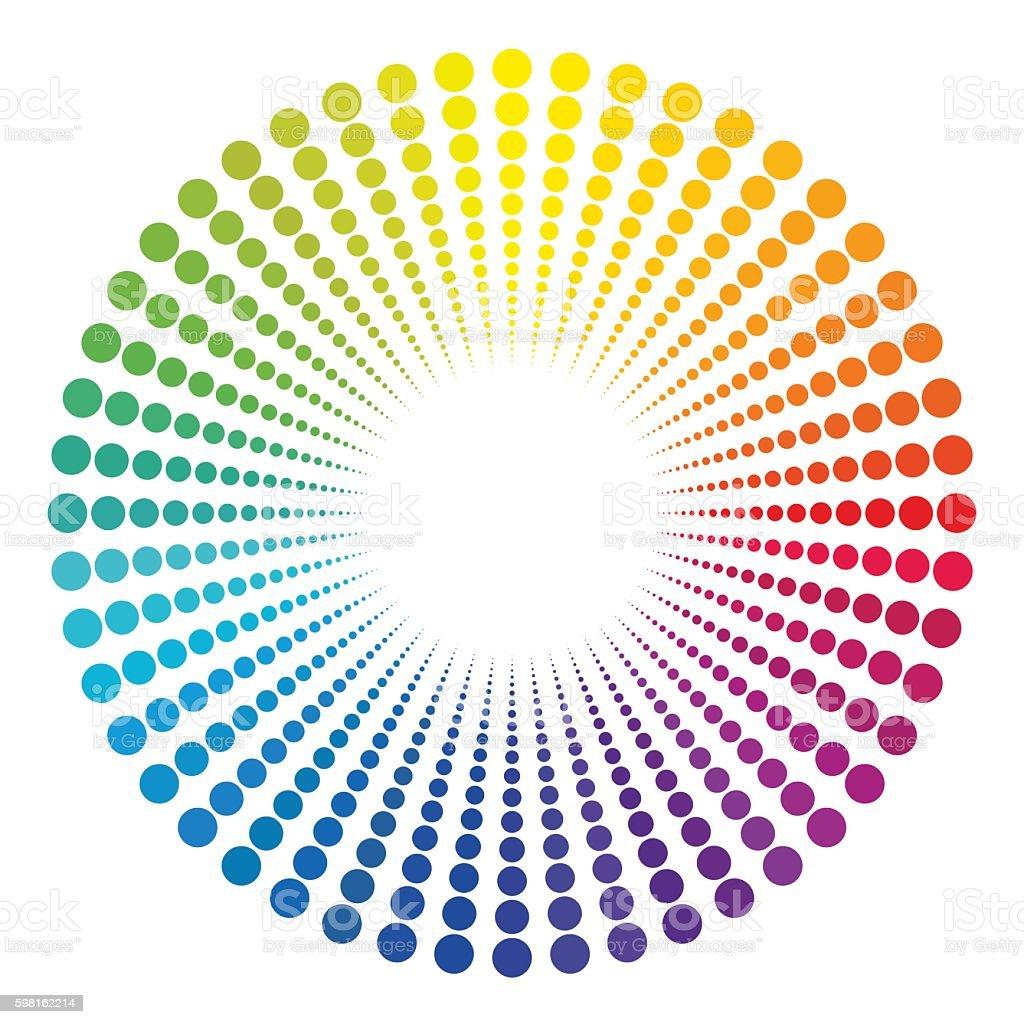 Light End Of Tunnel Rainbow Colors Pattern vector art illustration