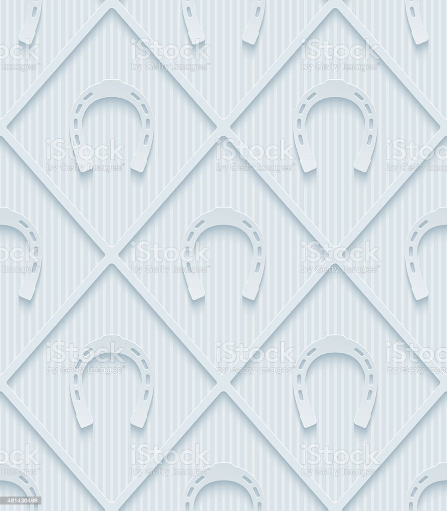 Light gray horseshoes wallpaper. vector art illustration