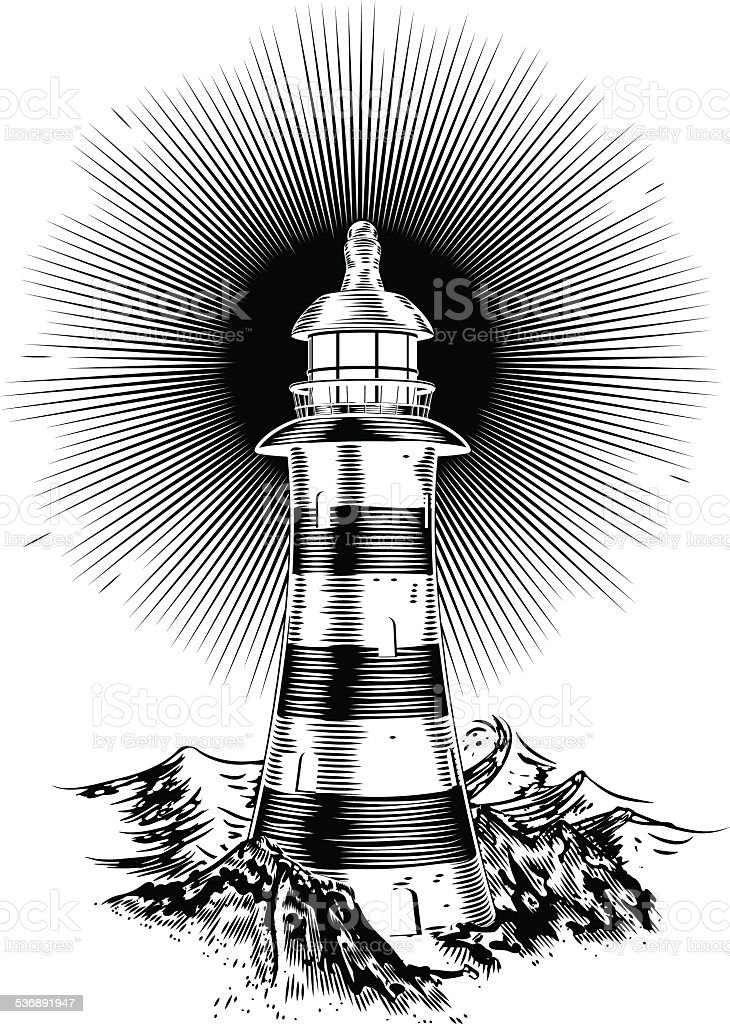 Light house vector art illustration