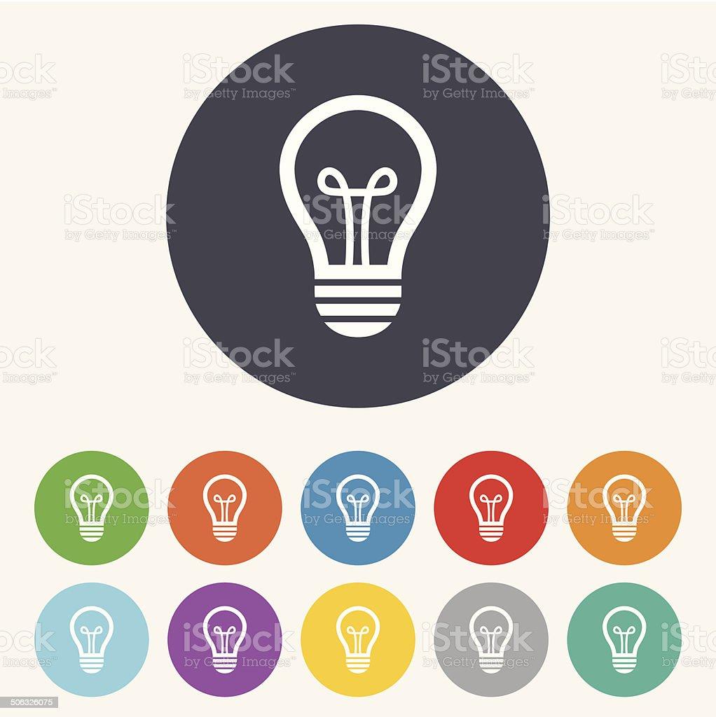 Light lamp sign icon. Idea symbol. vector art illustration