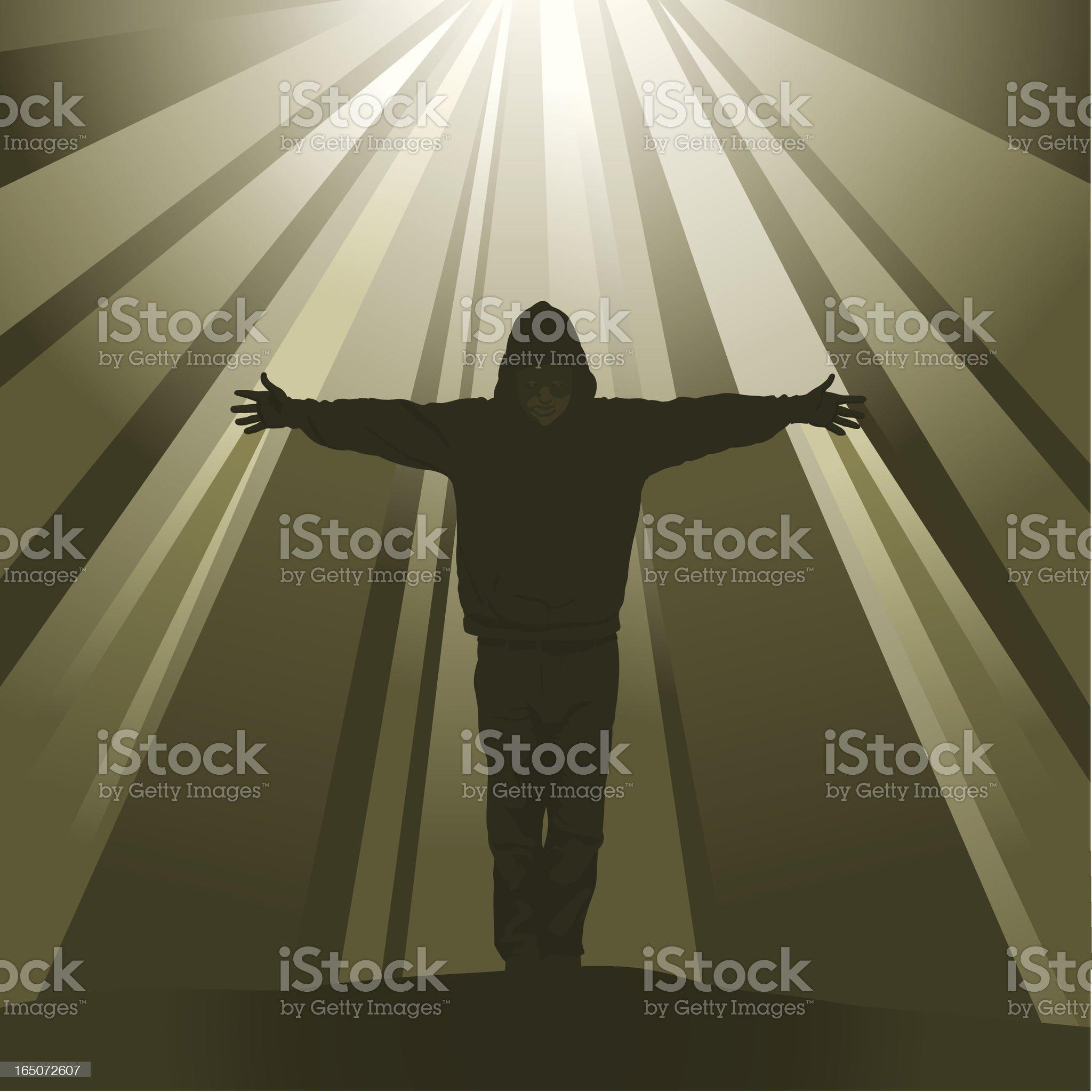 Light of Hope royalty-free stock vector art