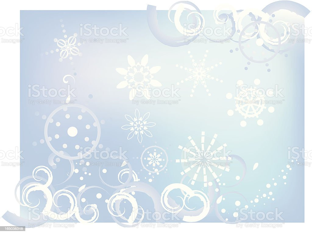 light of snowflakes royalty-free stock vector art