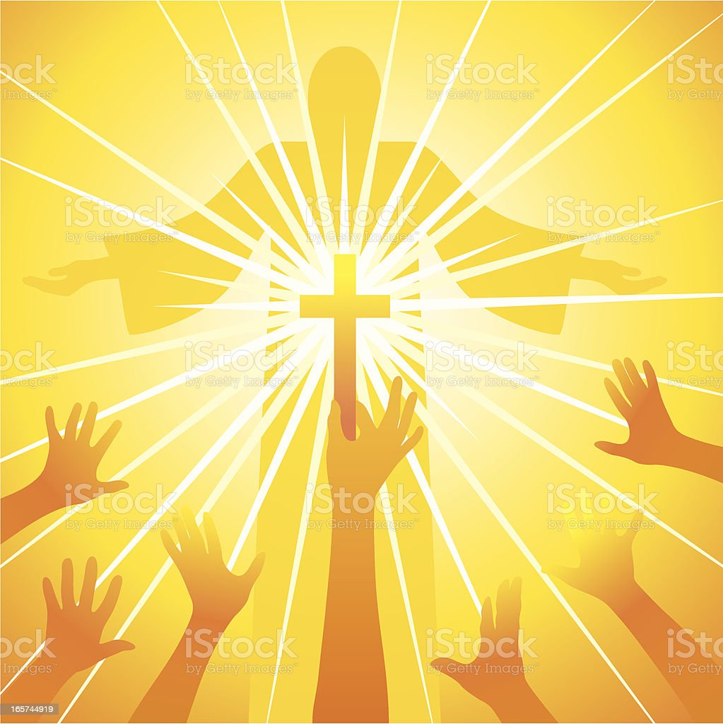Light of spirituality royalty-free stock vector art
