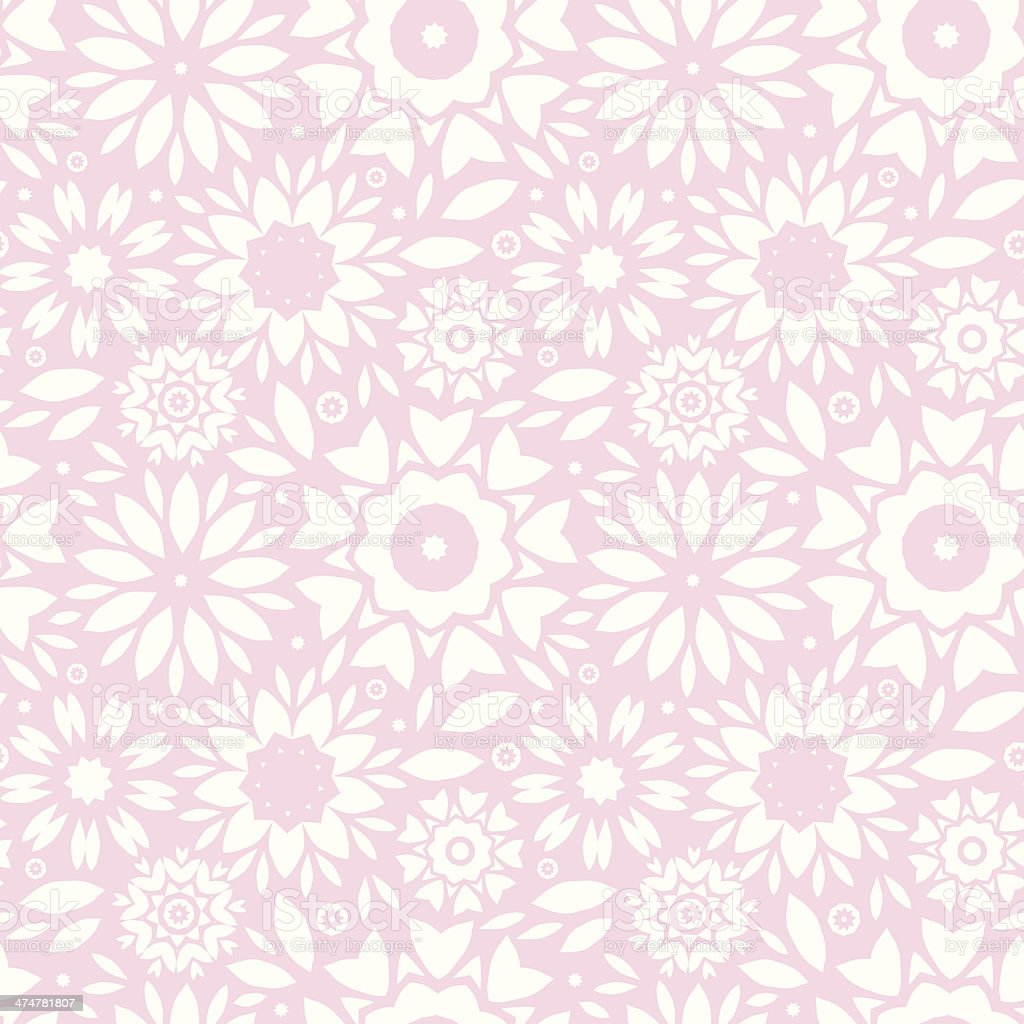Light Pink Abstract Flowers Seamless Pattern Background ...