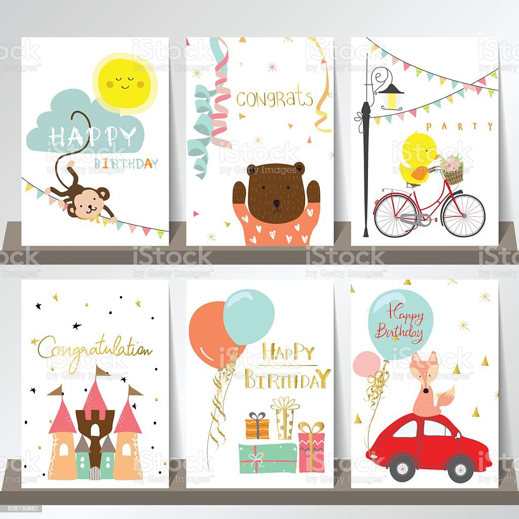 Light pink blue green collection for banners, Flyers, Placards vector art illustration