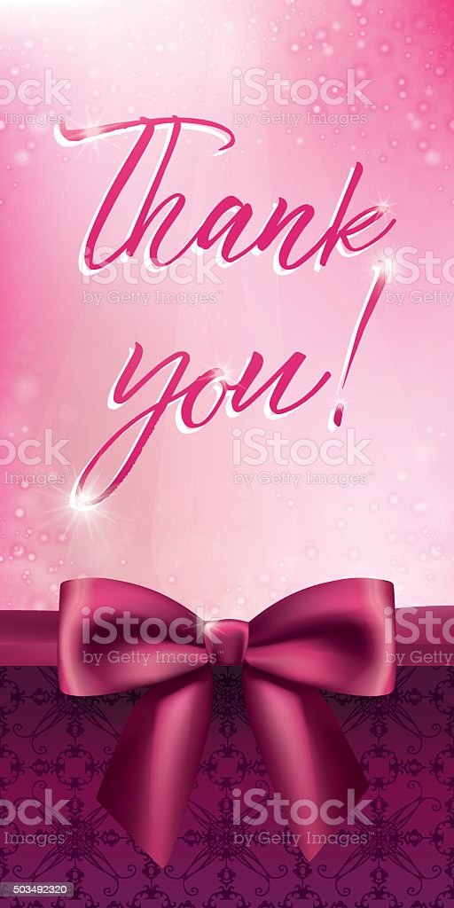Light pink bokeh background with a satin bow vector art illustration