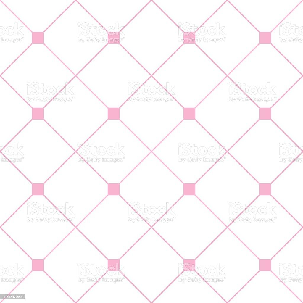 light pink square diamond grid white background stock