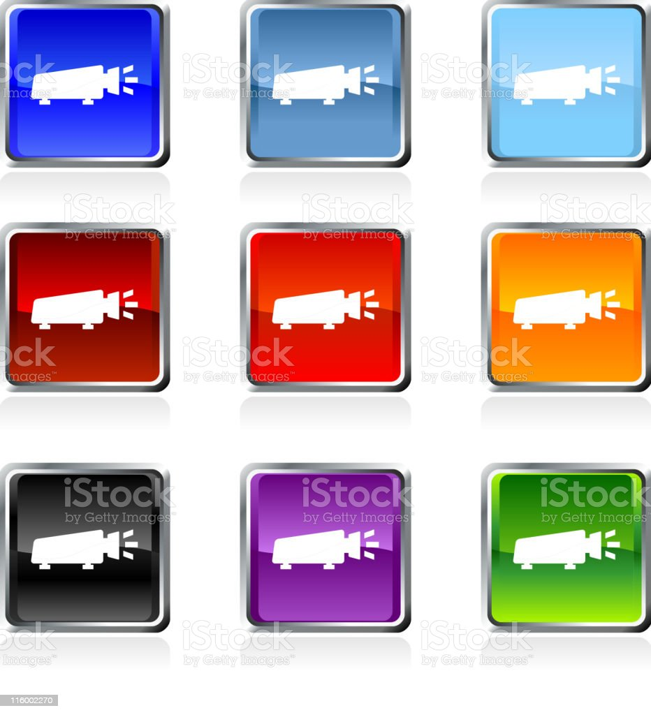 light projector royalty free vector art in nine colors royalty-free stock vector art
