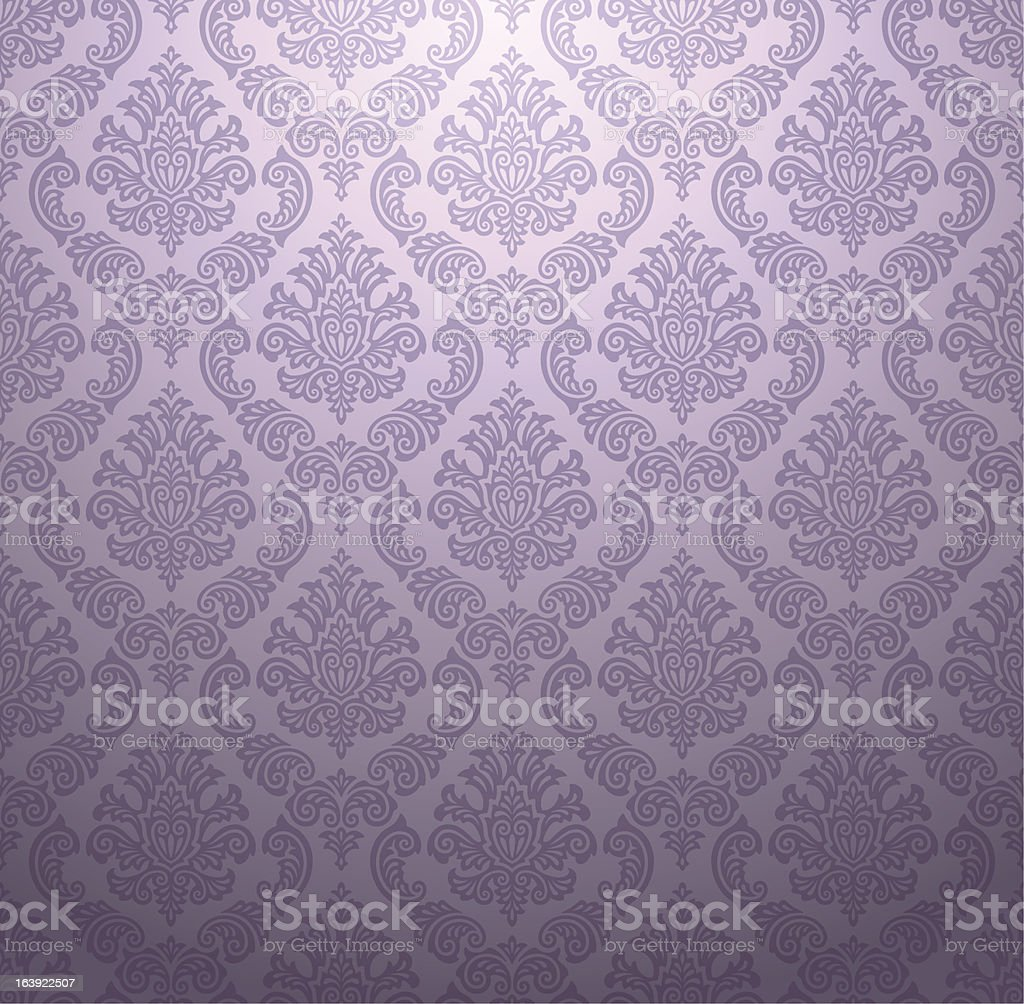Light purple raised texture damask wallpaper pattern vector art illustration