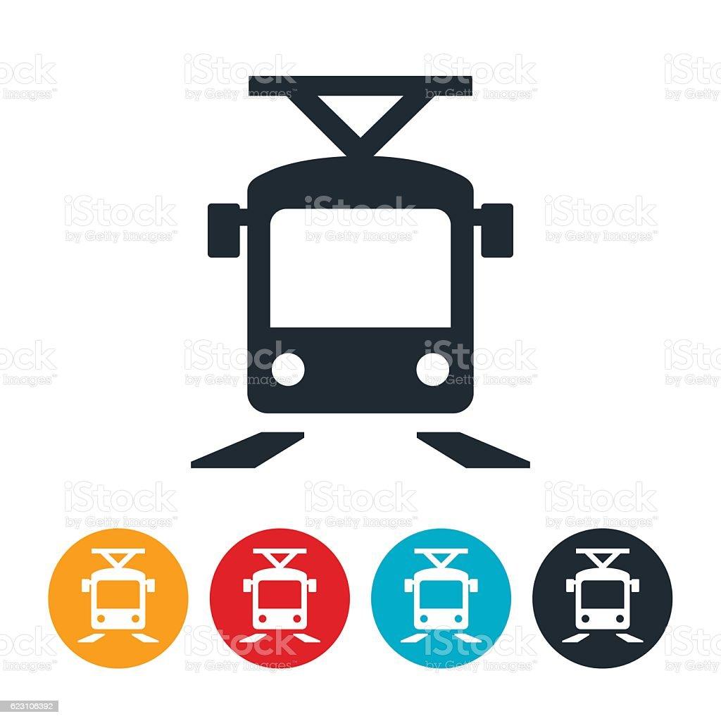 Light Rail Icon vector art illustration