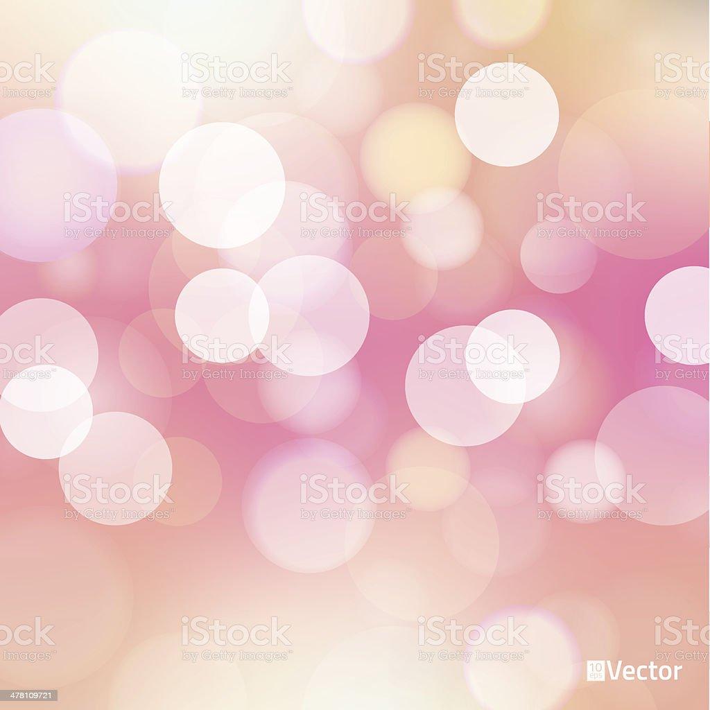 light red Vector bokeh background made from white lights vector art illustration