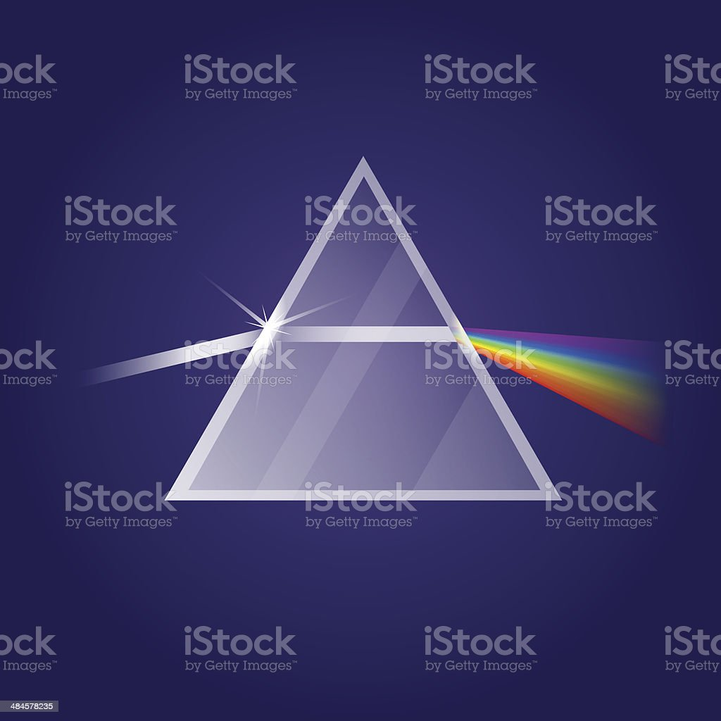 Light refraction vector art illustration
