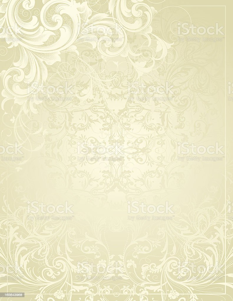 Light Scroll Background vector art illustration