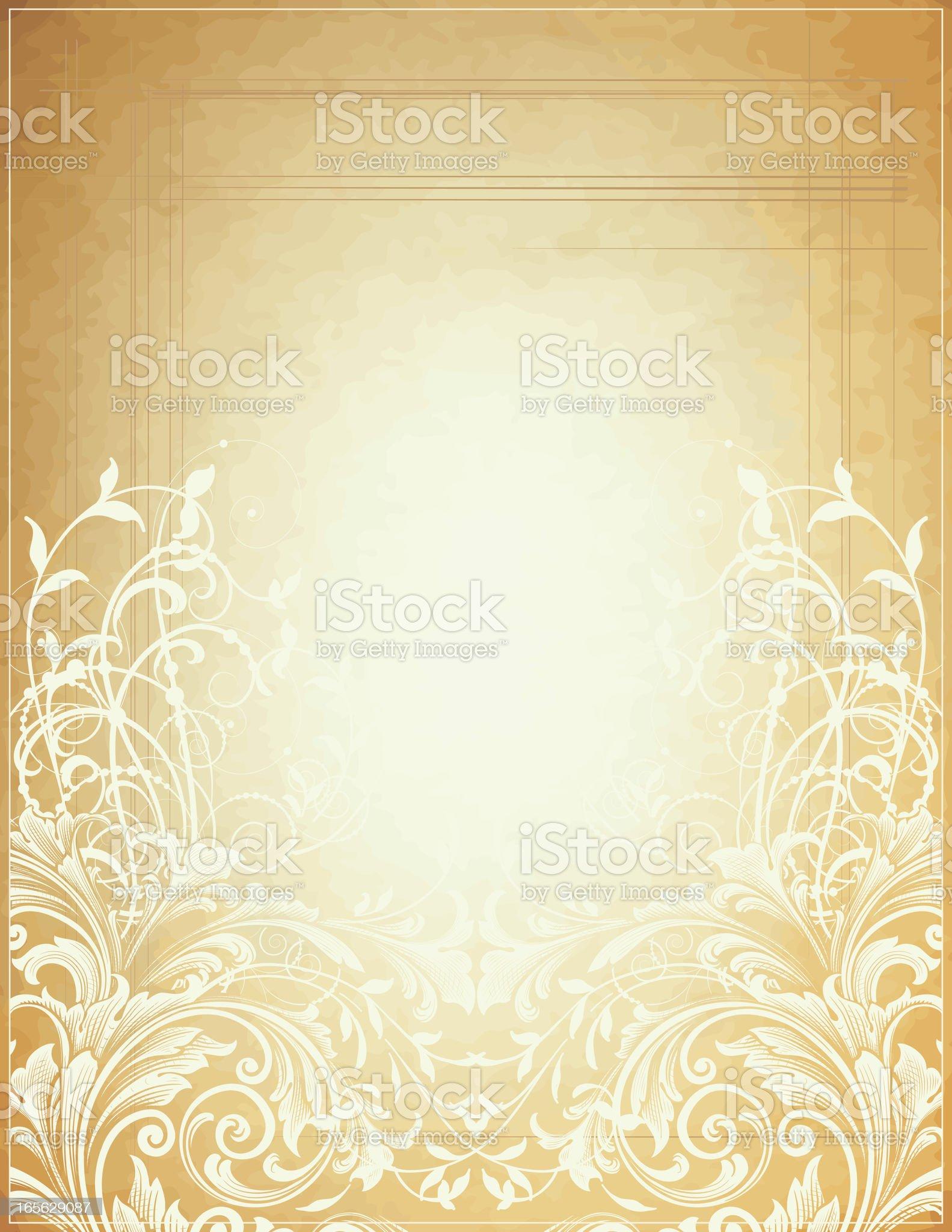 Light Scroll Bottom royalty-free stock vector art