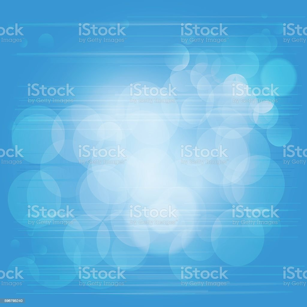 Light sky blue bubble background with lines and grid vector art illustration