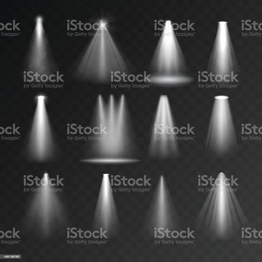 Light sources set vector art illustration