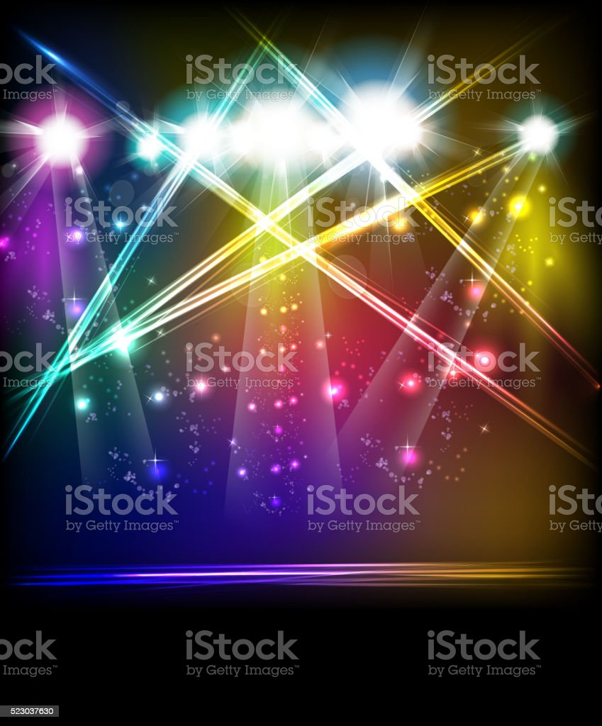 light stage vector background vector art illustration
