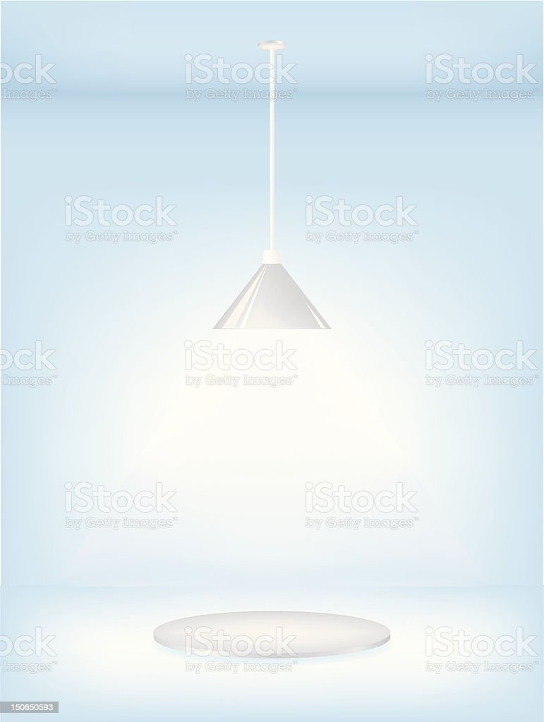 Light stand royalty-free stock vector art