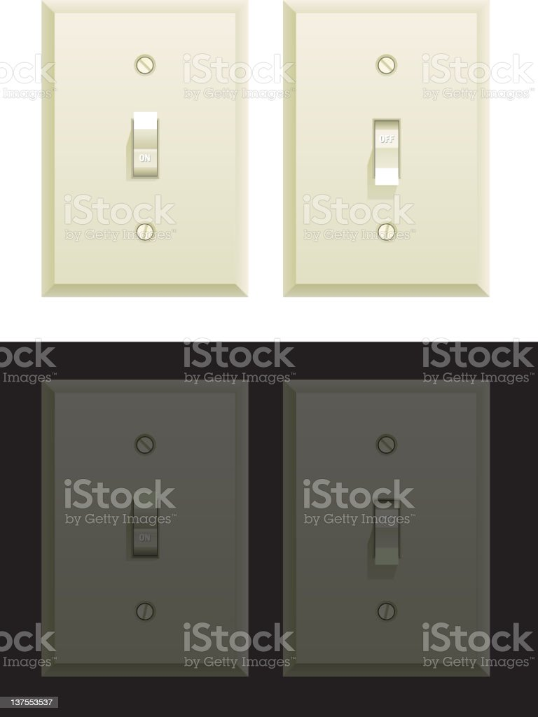 light switch vector art illustration