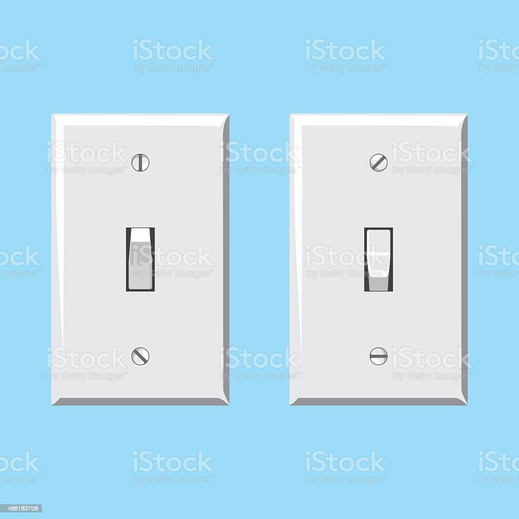 Light Switches vector art illustration