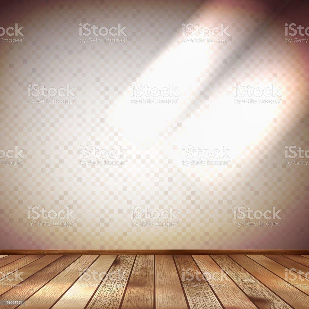 Light wall with a spot illumination. EPS 10 royalty-free stock vector art