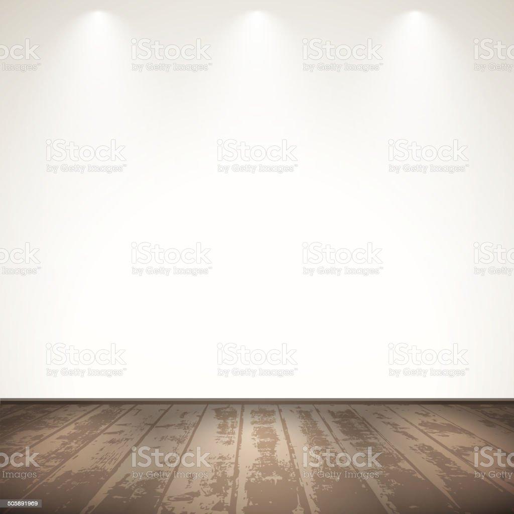 Light wooden room vector art illustration