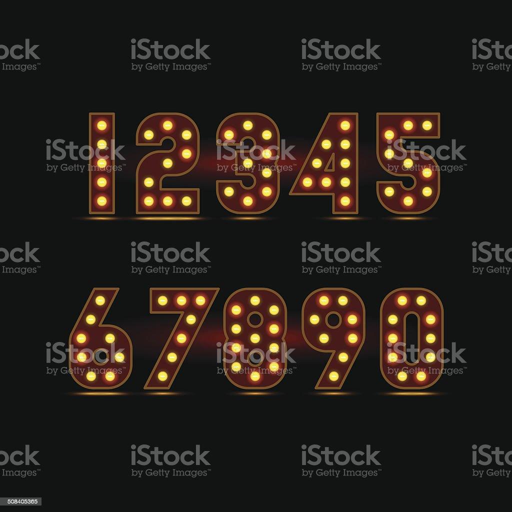 lightbulb digits royalty-free stock vector art