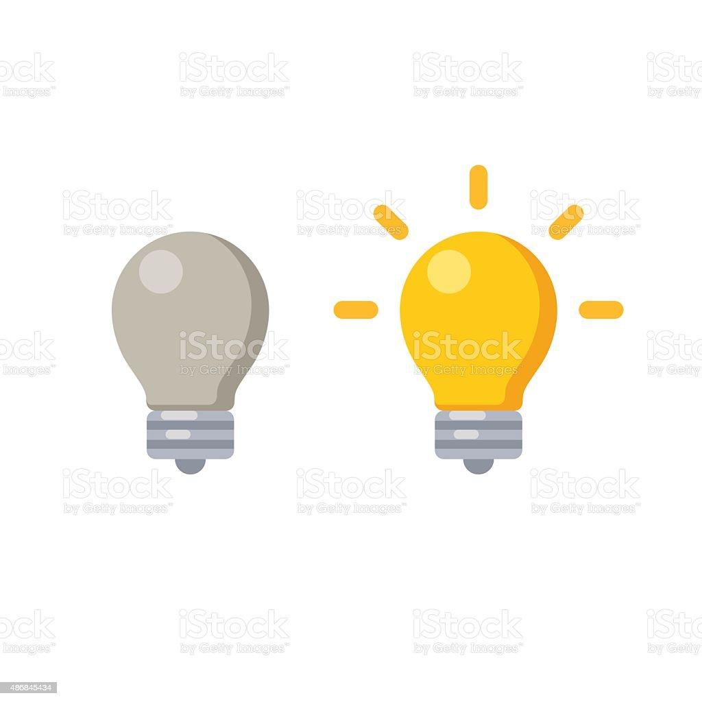 Lightbulb icon vector art illustration