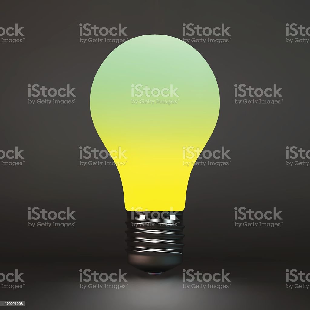 Lightbulb idea symbol. 3d vector illustration. vector art illustration
