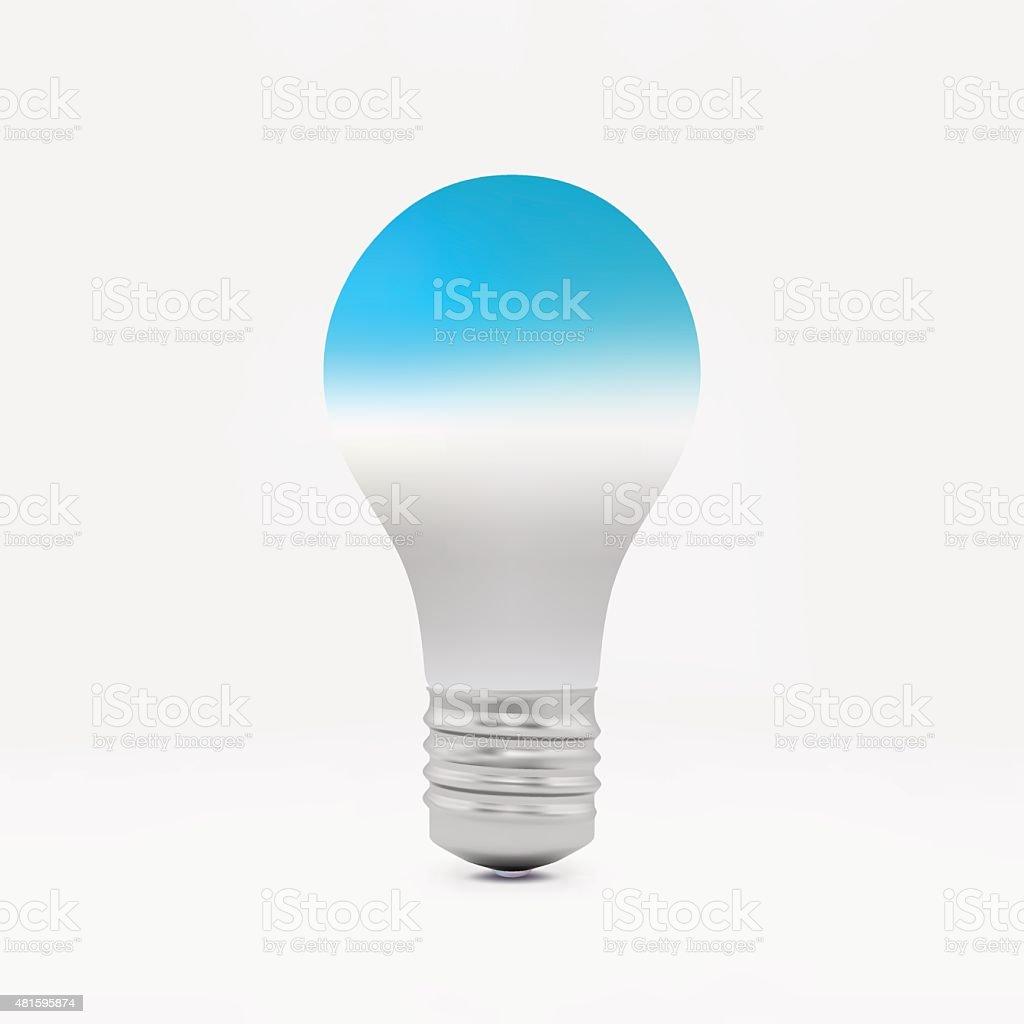 Lightbulb idea symbol. 3d vector illustration. vector art illustration