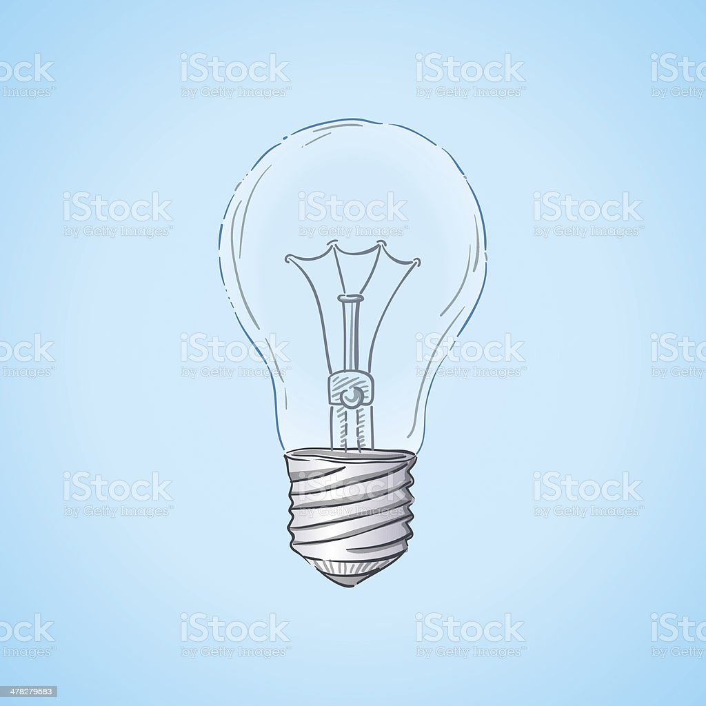 Lightbulb Illustration royalty-free stock vector art