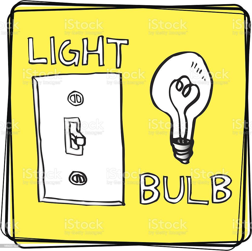 Light/Bulb (Vector Illustration) royalty-free stock vector art