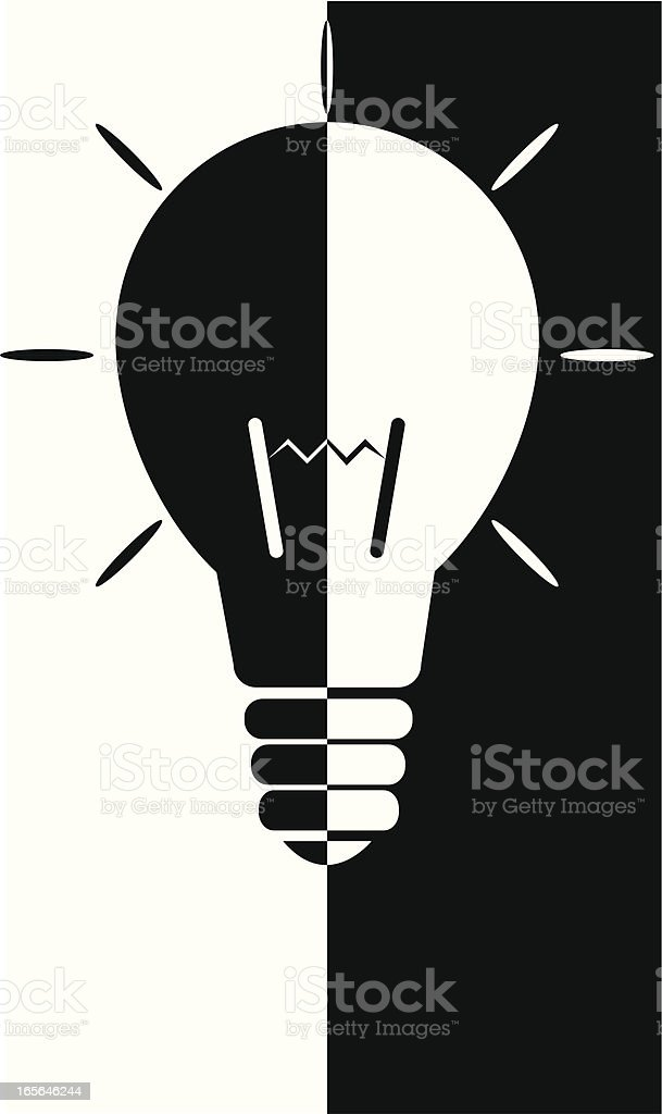 Lightbulb royalty-free stock vector art